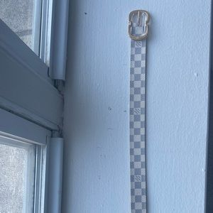 Louis Vuitton Damier Azur Canvas Mini 25 mm belt